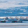 Arctic mining camp